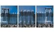 Christo Reichstag Westfassade Triptychon