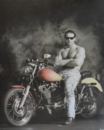 George Terberg Mann auf Motorrad