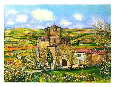 Maurice Utrillo Kirche von St. Mamert (85x63cm)