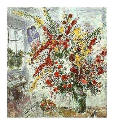 Marc Chagall Strauss am Fenster