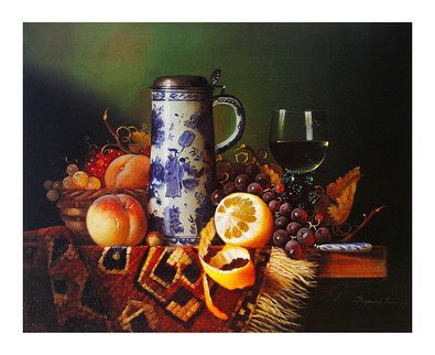Raymond Campbell 2er Set 'Still Life with Fruit I-II'