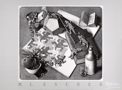 MC Escher Reptilien