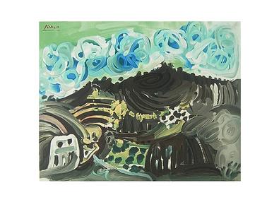 Pablo Picasso Blick aus dem Atelier des Künstlers