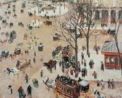 Camille Pissarro Platz am Franzoesischen Theater