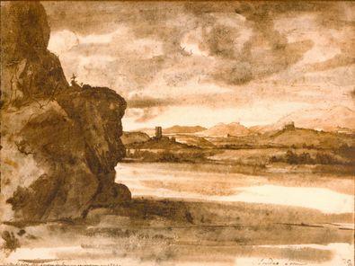 Claude Lorrain Tiberlandschaft noerdlich von Rom
