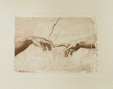 Michelangelo Erschaffung des Adam (Detail)