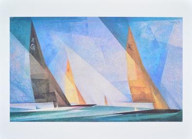 Lyonel Feininger Segelboote 70 x 50 cm