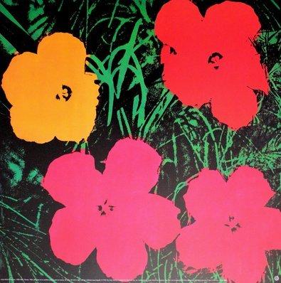 andy warhol blumen flowers red poster kunstdruck bei. Black Bedroom Furniture Sets. Home Design Ideas