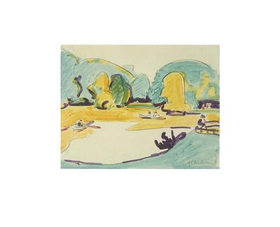 Ernst Ludwig Kirchner Parklandschaft in Dresden 1910