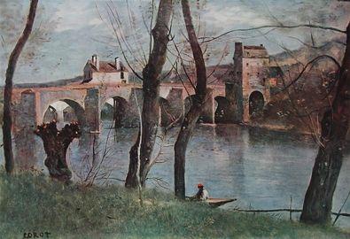 Jean Baptiste Camille Corot Die Bruecke von Mantes