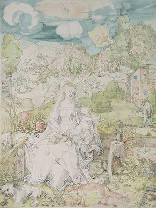 Albrecht Duerer Madonna mit den Tieren
