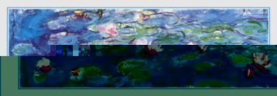 Claude Monet Wasserlilien (Detail)
