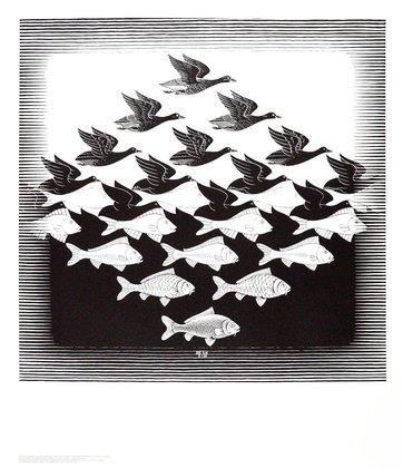 MC Escher Luft und Wasser