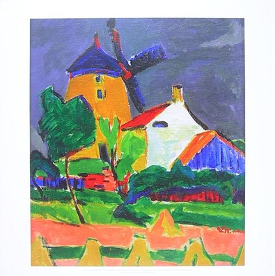 Ernst Ludwig Kirchner Die Windmuehle bei Moritzburg