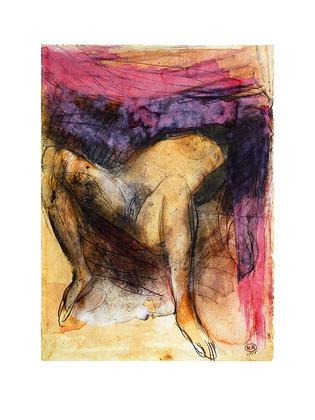 August Rodin Femme nue sur le dos jambes
