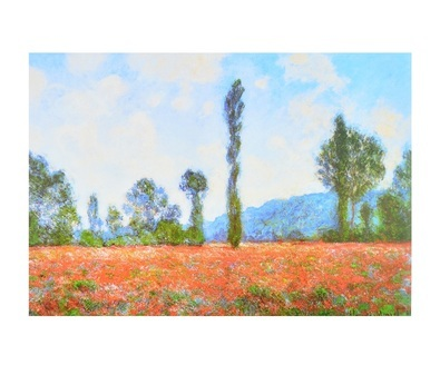 Monet claude champs de coquelicots large
