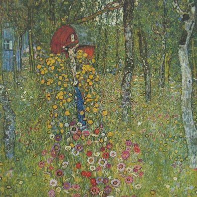 Gustav Klimt Bauerngarten mit Kruzifix   1910 12