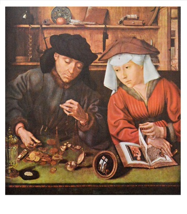 Quentin Metsys Der Geldverleiher und seine Frau