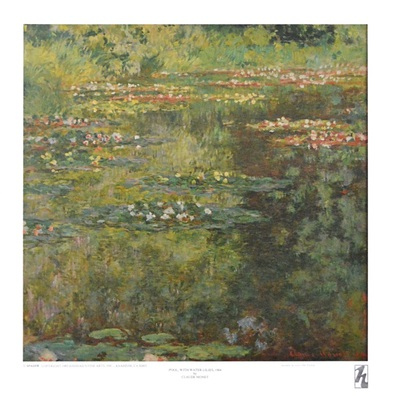 Claude Monet Pool with Waterlilies