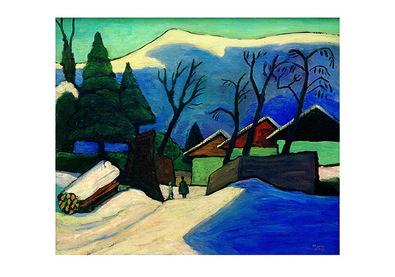 Gabriele Muenter Drei Haeuser im Schnee, 1933