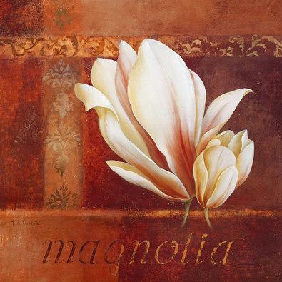 Fabrice de Villeneuve 2er Set 'Magnolia Blooms I + II'