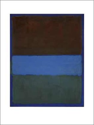 Mark Rothko No. 61 (Brown Blue Brown on Blue) 1953