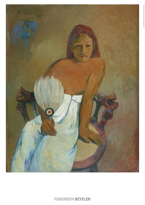 Gauguin paul femme a l eventail large