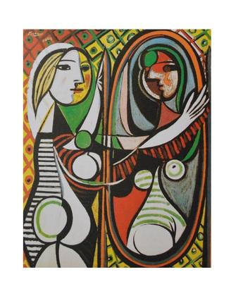 Pablo Picasso Frau vor dem Spiegel
