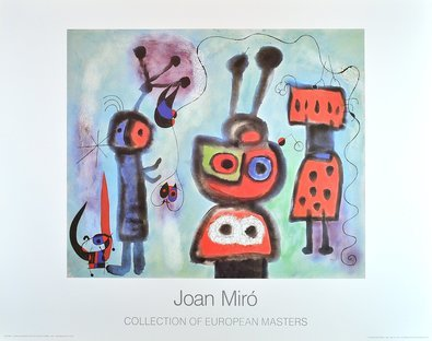 Joan Miro L oiseau au regard calme les ailes en fl