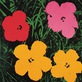 Andy Warhol Flowers 1964 1 red 1 pink 2 yellow