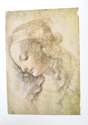 Leonardo Da Vinci Testa di Donna - Frauenkopf