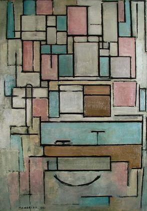 Piet Mondrian Komposition mit Farbfeldern