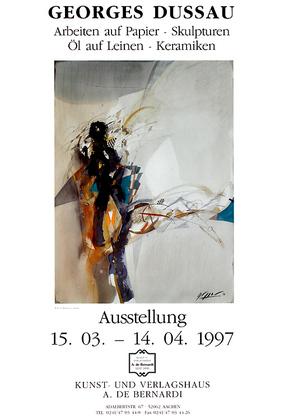 Georges Dussau Ausstellungsplakat, 1997
