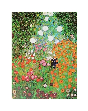 Gustav Klimt bluehender Garten