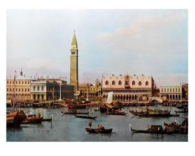 Antonio Canaletto Ansicht der Piazzeta und der Riva Degli Schlavoni