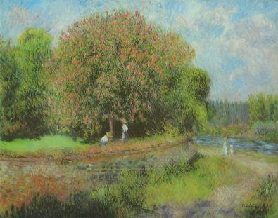 Pierre Auguste Renoir Bluehender Kastanienbaum