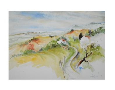 E. Hofmann Toscana bei Montepulciano