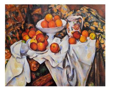 Paul Cezanne Aepfel und Orangen (24x30 cm)