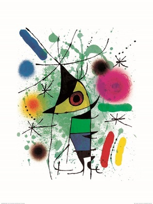 Joan Miro Le Chanteur   Singing Fish   Singender Fisch