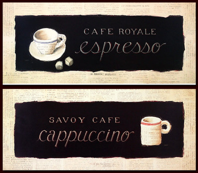 Emily Adams 2er Set 'Cafe Royale' + 'Savoy Cafe'