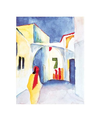 August Macke Blick in die Gasse, 1914