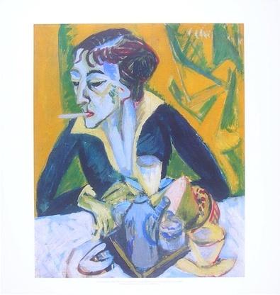Ernst Ludwig Kirchner Erna mit Zigarette