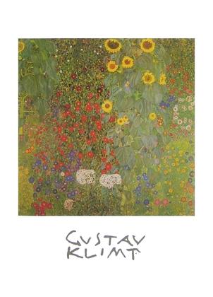 Klimt gustav bauerngarten mit sonnenblumen mit schrift large