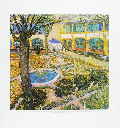 Vincent van Gogh Garten des Hospitals in Arles
