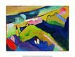 Kandinsky wassily berglandschaft mit kirche 1910 l
