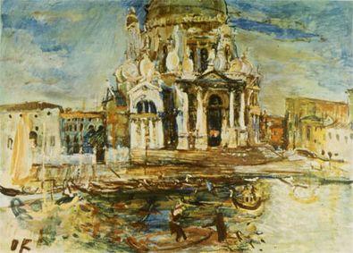 Oskar Kokoschka Venedig Santa Maria della Salute