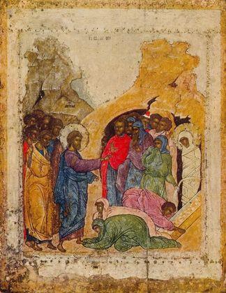 Ikone Russisch Auferweckung des Lazarus I