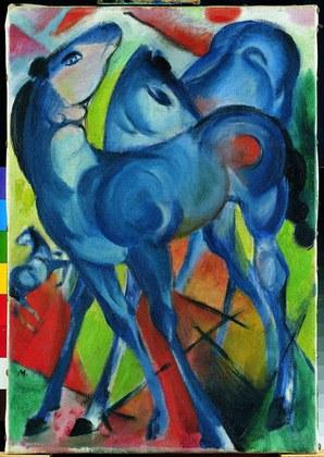 Franz Marc Die blauen Fohlen