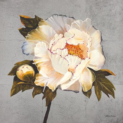 Gloria Eriksen 2er Set 'Silver Peonies White + Pink'