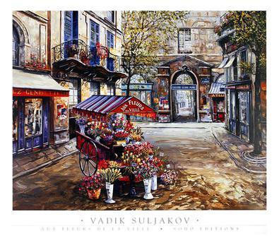 Vadik Suljakov Aux Fleurs de la Ville